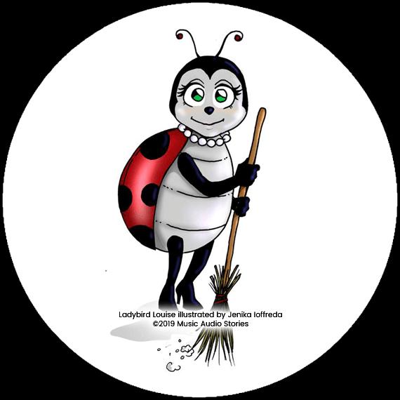 Music Audio Stories character Ladybird Louise - Illustration by Jenika Ioffreda image