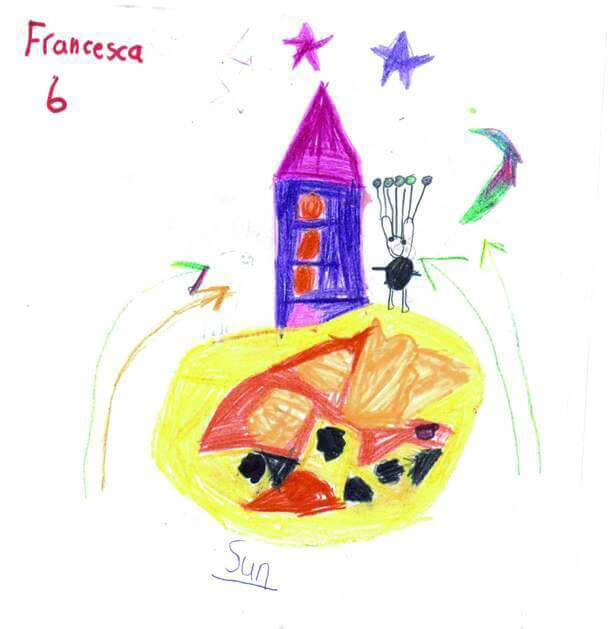 Music Audio Stories - Robert & Johnson's Space Adventure drawing by Gower House School pupil