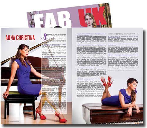 Fab UK Magazine feature on Anna-Christina