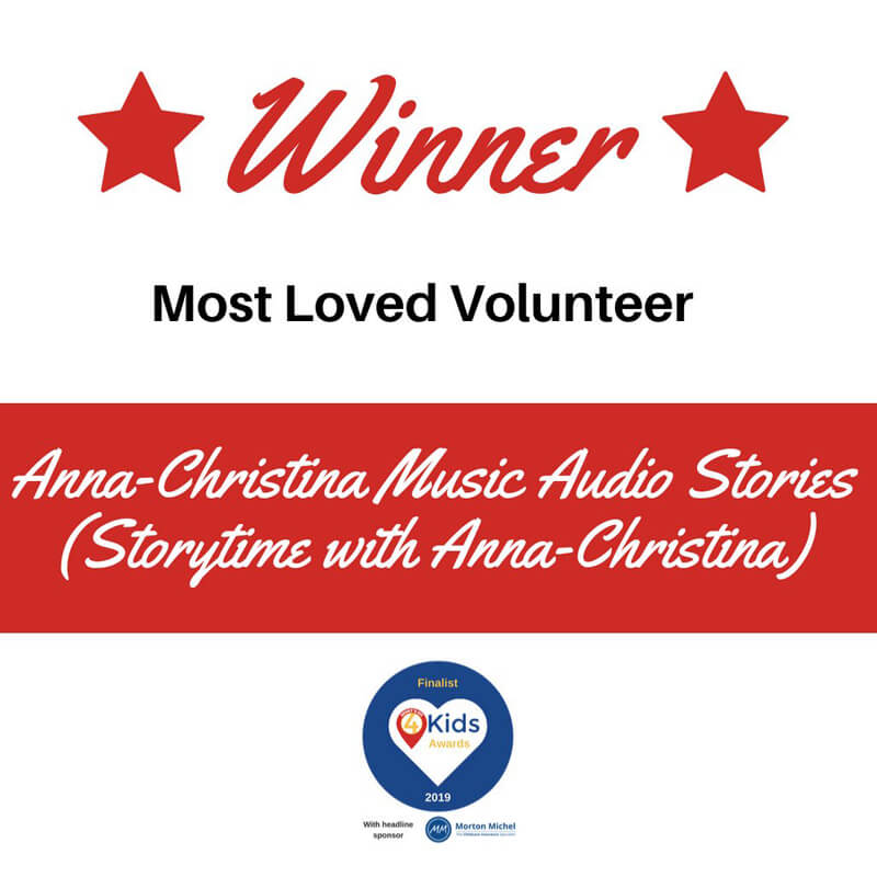 Anna Christina, Music Audio Stories, Storytime with Anna Christina What's On 4 Kids Awards winner image