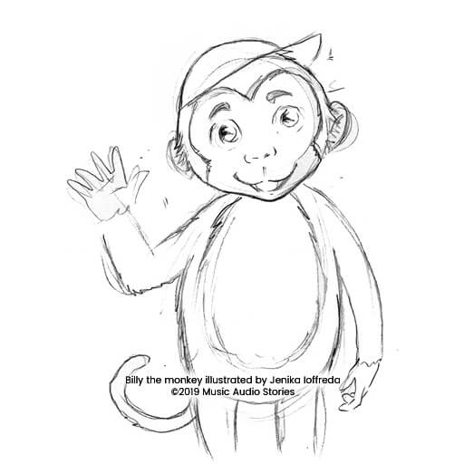 Billy Joins the Circus - Billy the monkey sketch by Jenika Ioffreda image