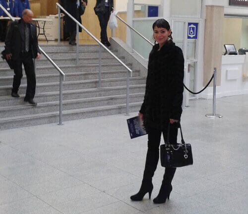 Anna-Christina standing at the entrance of The Business Show 2015 image