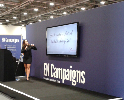 Shaa Wasmund's seminar at The Business Show 2016 at ExCel London image