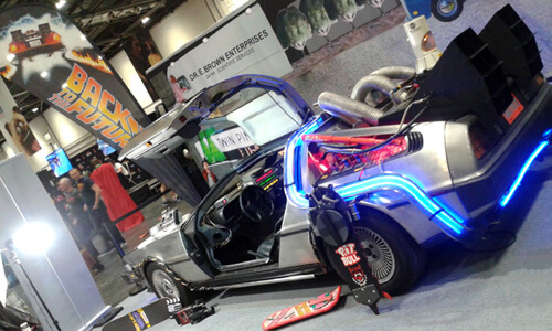 The DeLorean from the movie Back To The Future image