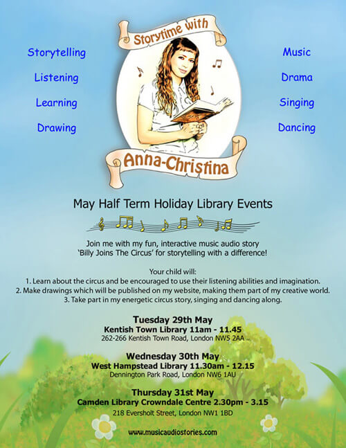 Music Audio Stories - May Half Term Holiday Library Events 2018