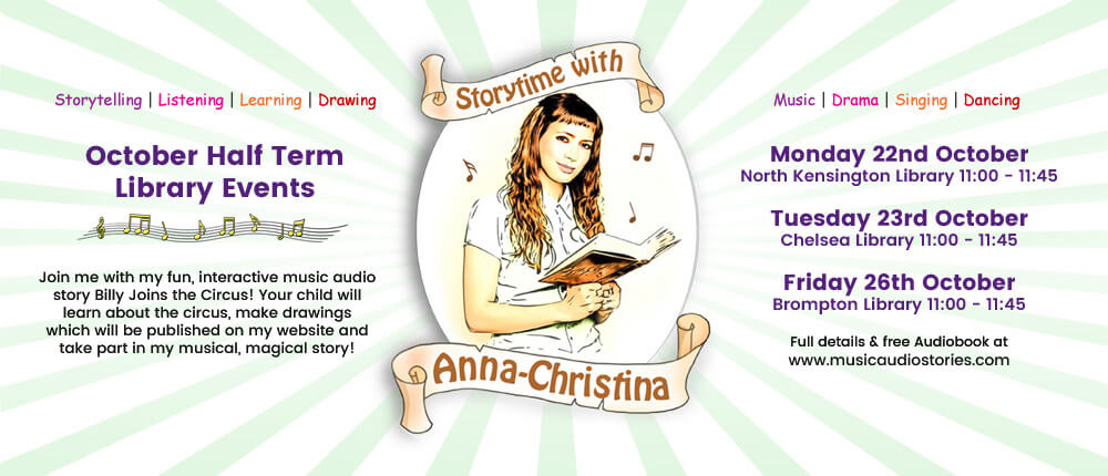 Music Audio Stories - October Half Term Holiday Story Times banner image