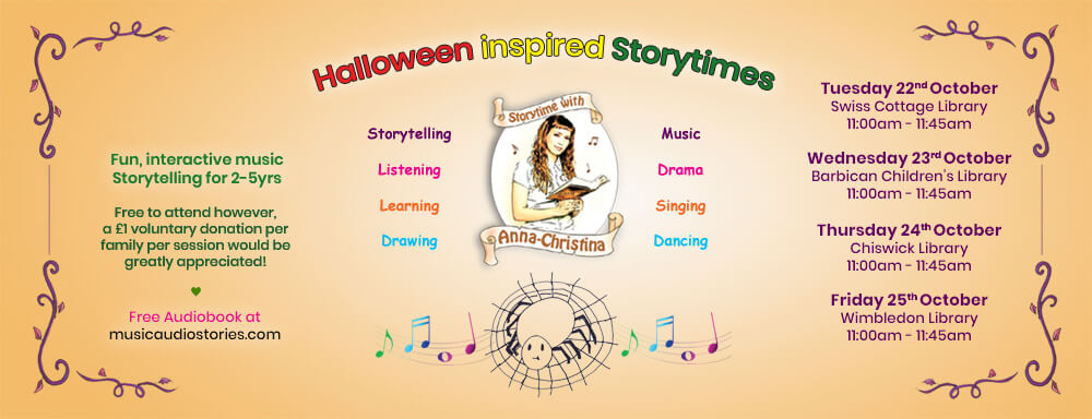 Music Audio Stories - Halloween Inspired Storytimes banner image