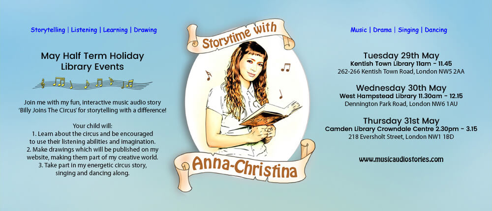 Music Audio Stories - May Half Term Story Times banner image