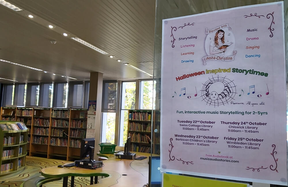 Music Audio Stories - Storytime with Anna-Christina at Swiss Cottage Library