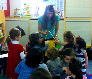 Anna-Christina from Music Audio Stories doing Story Time with the children at West Hampstead Library image