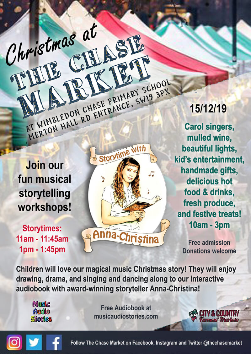 Music Audio Stories - Christmas at The Chase Market 2019 Flyer