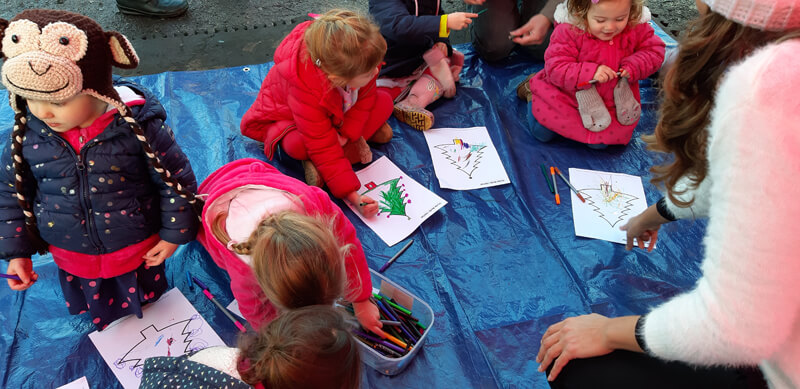 Storytime with Anna-Christina at Christmas at The Chase Market - Children drawing image