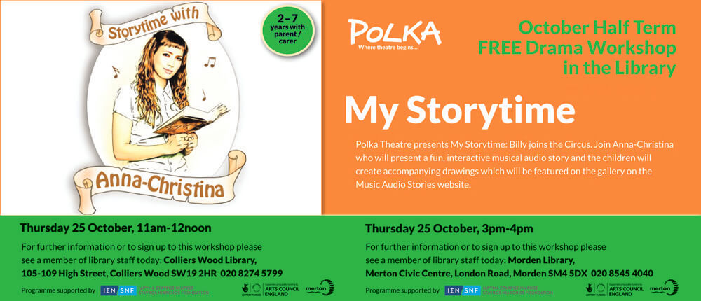 Polka Theatre Presents My Storytime banner image