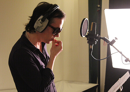 David Ryder Prangley recording Freddie the New York ferret in our audio book The Big Apple image