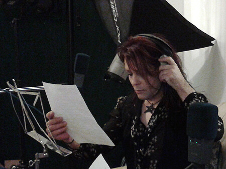 Belle Star recording 'No' the mischievous squirrel in our audio book The Big Apple image