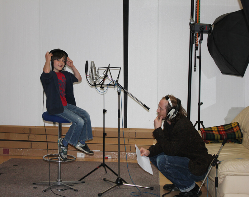 Geffin Katz Kaye recording Robin in audiobook Johnny No Cash by Music Audio Stories